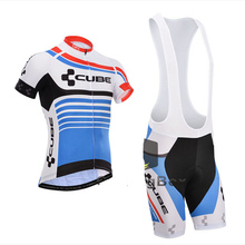 Men cycling jersey 2016 cube pro team hombre Breathable Short Sleeve roupa maillot ciclismo bicicleta Bike Cycling Clothing