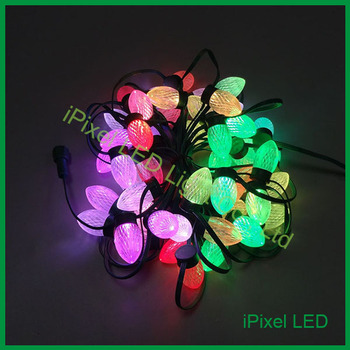 D24 Digital 2 SMD5050 RGB LED Christmas Light,waterproof WS2811 programmable colorful led pixel string lights