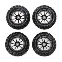 New 4PCS Wheel Rim Tires For HSP 1 10 Monster Truck RC Car 12mm Hub