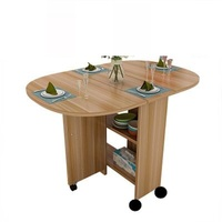 Kitchen Comedores Mueble Escrivaninha Eettafel Dinning Set Vintage Wooden Folding Bureau Comedor Mesa De Jantar Dining Table