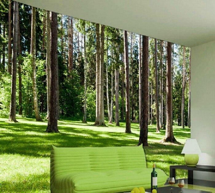 Large 3d forest mural living room bedroom tv restaurant for Figuras para decorar paredes