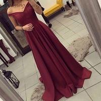 Dubai Long Burgundy A Line Evening Dresses 2019 Floor Length Cap Sleeve Simple Prom Graduation Gowns Vestidos De Gala