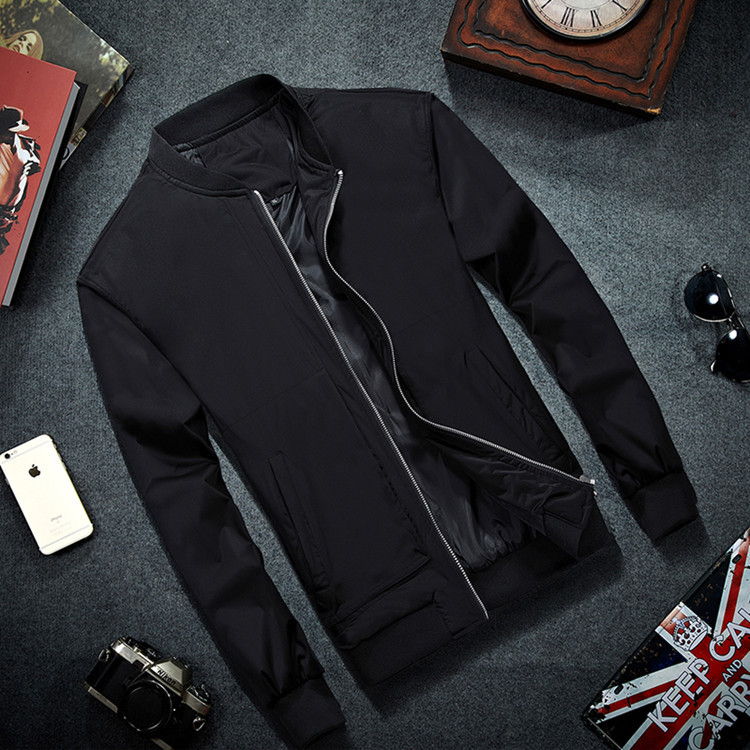 MRMT 2020 Brand Mens Bomber Jacket Thin Men Baseball Jackets Coat Solid Color Casual Jacket Overcoat For Male Clothing