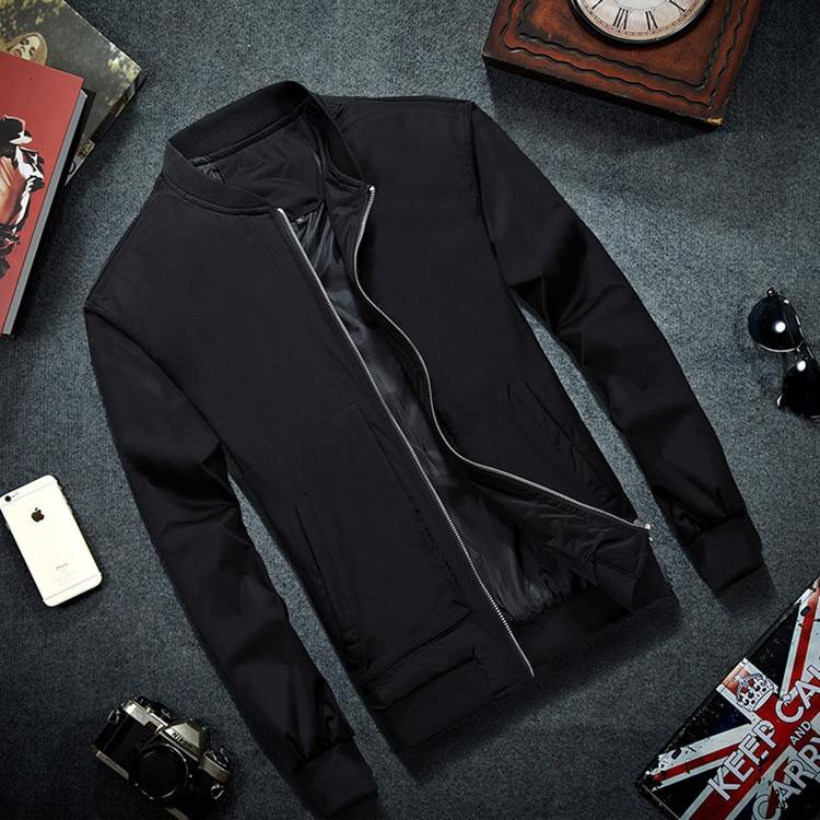 Mrmt 2019 marca dos homens bombardeiro jaqueta fina jaquetas de beisebol casaco cor sólida jaqueta casual para roupas masculinas