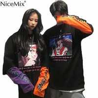 NiceMix jesień bluza w stylu harajuku kobiety Unisex Jumper Oversize chińskie swetry kreskówkowe odzież damska Sudadera Mujer 2019