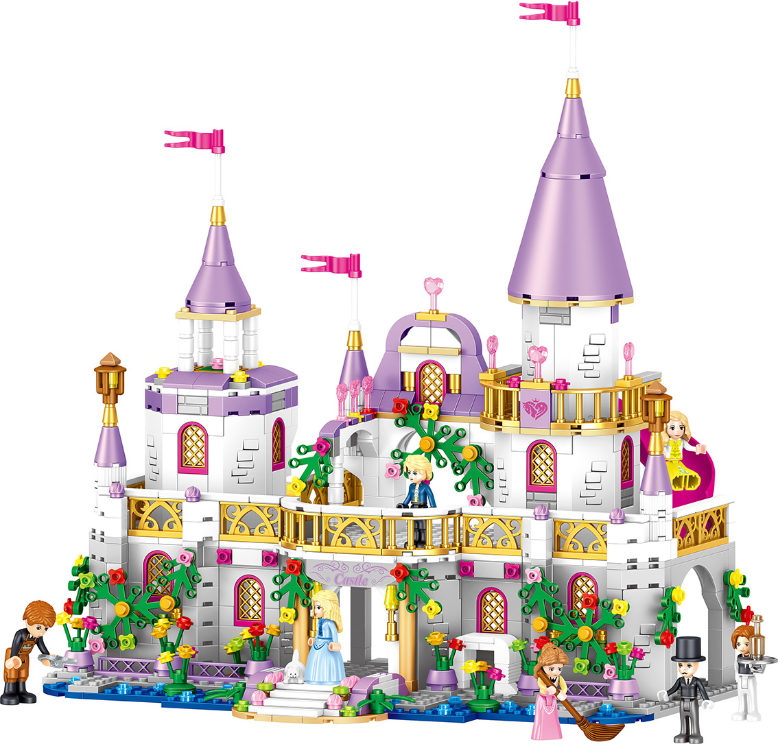 Girls Friends QL1106 731PCS Building Blocks Princess Windsor Castle technic Designer Bricks Legoingly 41148 Toys Girl