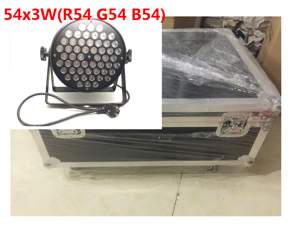 все цены на 8 unids 54x9 w led par + flightcase + cable dmx dj luz del disco par led rgb 3in1 lavado dmx controlador de luz dmx онлайн