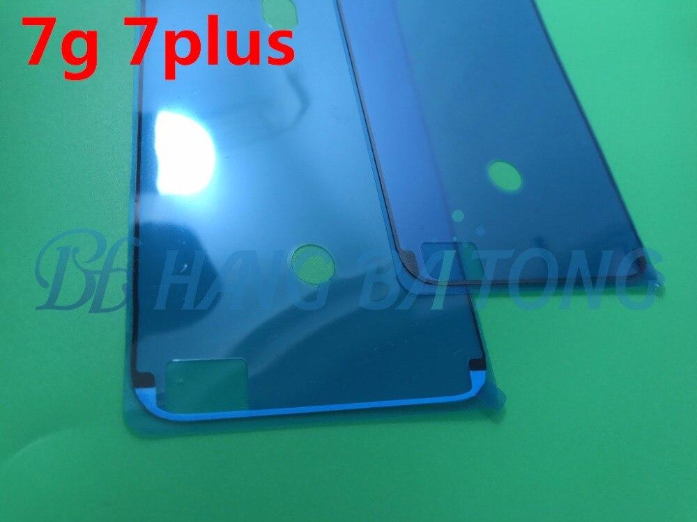 bilder für 50 stücke ursprüngliche wasserdichte 3 m pre-cut anhaftender kleber klebeband-aufkleber für iphone 7 7g 7 plus front gehäuse lcd touch screen