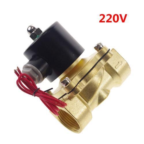 220VAC Water Air Oil NC Solenoid Valve 1 inch BSPP x 1