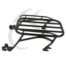 New Detachable Iron Luggage Rack For Harley Touring Road King 1996-2008 Black Chrome цена