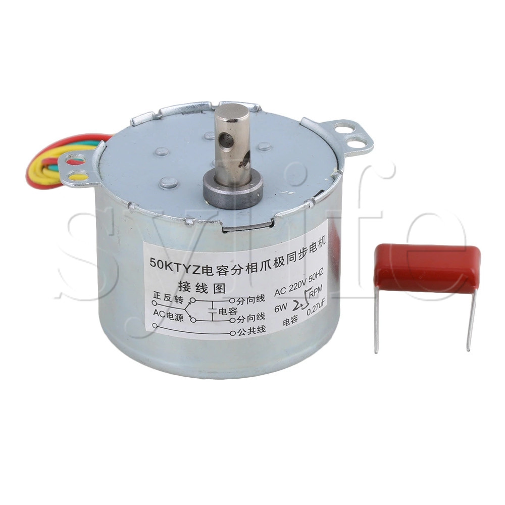 AC 220V 2.5RPM 0.27uF Electric Synchronous Gear Motor Replacement 50KTYZ все цены