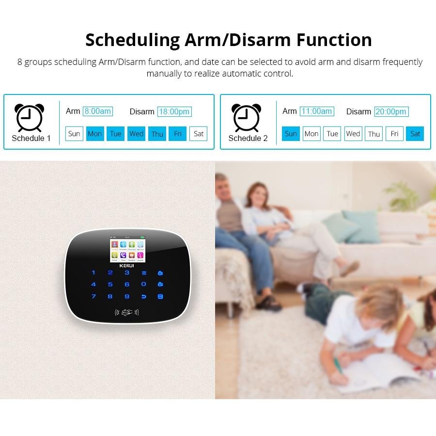 Image 5 - KERUI 3G WiFi GSM Security Alarm System PSTN RFID IOS Android APP Control Wireless Smart Home Burglar Alarm Sensor Alarm DIY kit-in Alarm System Kits from Security & Protection