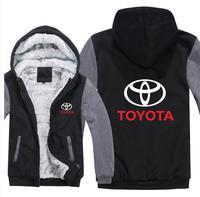 New Hoodie Toyota Hoodies Hoody Jacket Winter Pullover Mans Unisex Thicken Wool Liner Fleece Men Coat Toyota Logo Sweatshirts
