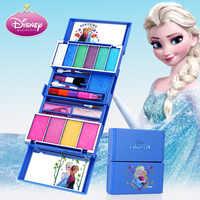 Disney enfants cosmétiques jouet princesse maquillage coffret reine des neiges fille maison jouet brillant à lèvres Rouge bébé cadeau de noël