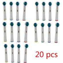 20 adet elektrikli diş fırçası başı için Oral B elektrikli diş fırçası yedek fırça başkanları