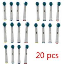 20 pçs escova de dentes elétrica cabeça para oral b escova de dentes elétrica substituição cabeças