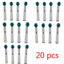 Cabezal de cepillo de dientes eléctrico 20 piezas para Oral B, repuesto de cepillo de dientes eléctrico