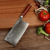 SUNNECKO 7 дюймов Кливер Ножи Кухня шеф повар ножи японский Дамаск VG10 Сталь острое лезвие 60HRC Pakka деревянной ручкой резак инструменты