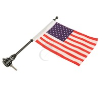 Luggage Rack Vertical Pole USA Flag For Harley Electra Touring Street Road Glide