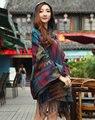 Де Голубь большая тенденция с капюшоном мыса плащ шарфы с hat женщины большой зимний шарф тепловые теплые обертывания глушитель кашемир мантии шаль