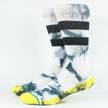 Men s Tie Dye Ankle Strip Skate Socks USA Size M 6 9 Euro Size 39