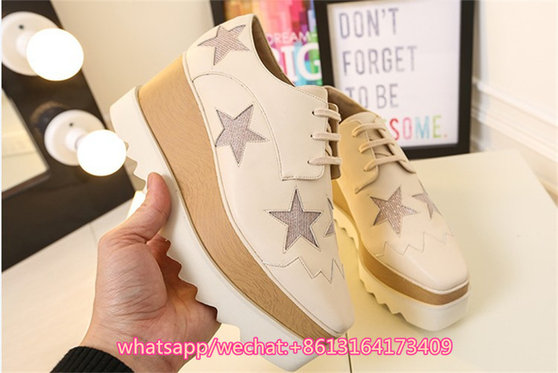 forme Appartements Étoiles Piste Chaussures Femme En Loisirs Taille Cuir Mujer Shoeslace Nouveau Réel Pic as 42 Pic Dames Oxford Zapatos As Coins Grande Plate 55rqanwU
