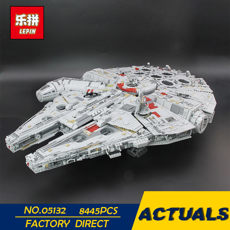 цены Lepin 05132 New 8445Pcs Ultimate Collector's Destroyer Star Series Wars Building Blocks Bricks Children 75192 christmas gifts