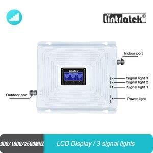 Image 4 - Lintratek 2g 3g 4g tri band wzmacniacz sygnału 900 1800 2600 GSM UMTS LTE DCS zespół 3 zespół 7 FDD 2600MHz wzmacniacz komórkowy