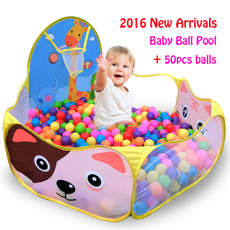 50pcs Balls+1.2M Baby Playpens For Children Outdoor/Indoor Foldable Kids Ball Pit Pool...