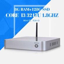Мини пк для игры core i3 3217U 8 г 512ram + 128 г ssd + wifi виртуальный компьютер мини-компьютер travla мини-itx Mini ITX встраиваемые