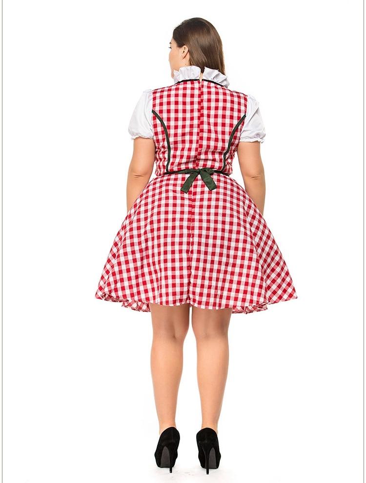 2pcSet Traditional Dirndl German Bavarian Beer Girl Costume Oktoberfest Festival Fancy Dress (6)