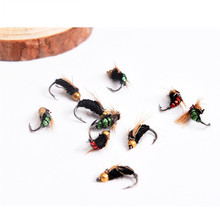 LEO 40pcs/box Fly Fishing Flies Lure High Carbon Steel Fly Tying Hooks for Trout Fishing Artificial Flies Fishing Accessories