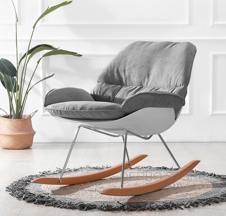Swell Us 478 0 Nice Modern Design Rocking Chair Living Room Soft Cushion Solid Wooden Leg Rocker Lounge Relax Chair Home Decoration Furniture In Chaise Inzonedesignstudio Interior Chair Design Inzonedesignstudiocom