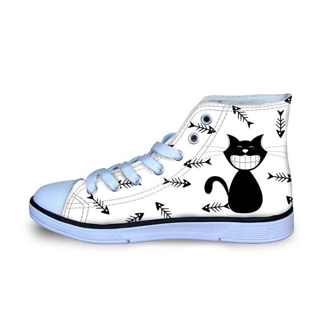 43ceea8f113b5 Aliexpress.com : Buy Cartoon Cats Canvas Shoes Women Cute Flats Szie 29 34  Girls Sneakers Students Vulcanize Shoes Flats Comfortable Footwear from ...