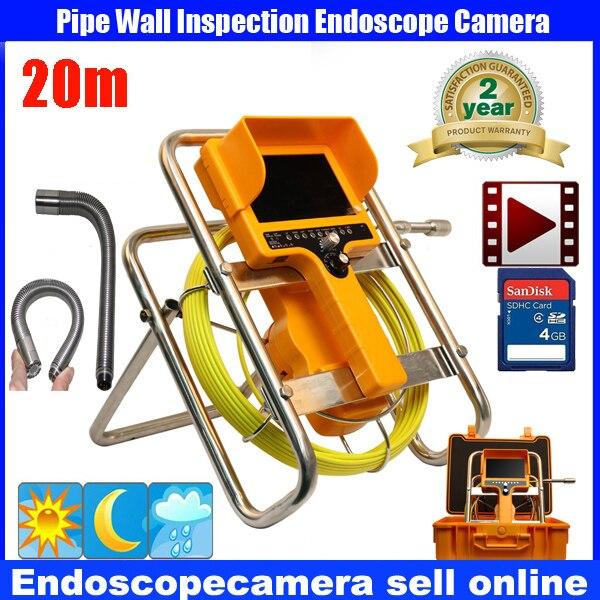 20M Waterproof Video Camera 7LCD Screen Drain Pipe Inspection camera tube Sonde Drain Clean Waterproof with 90 degree camera