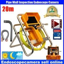 20M Waterproof Video Camera 7″LCD Screen Drain Pipe Inspection camera tube Sonde Drain Clean Waterproof with 90 degree camera