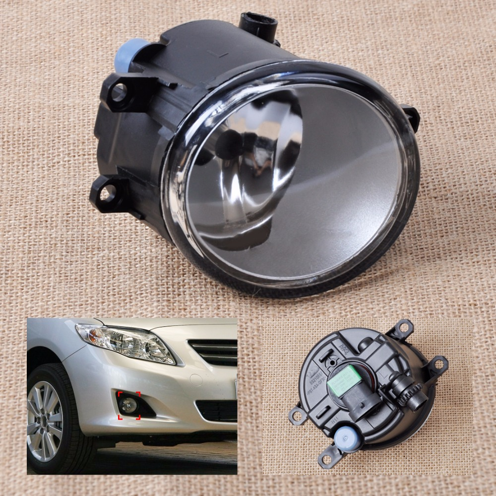 DWCX New Front Left Side Fog light Lamp 81210-06050 For Toyota Camry Corolla Yaris Prius Lexus GS350 GS450h LX570 HS250h RX350 new mass air flow meter sensor 22204 22010 for toyota vzj95 acv30 yaris gs450h