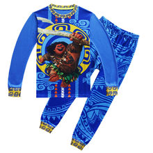 fae912c524a08 Automne Confortable pyjama Moana Maui Imprimé Vêtements t-shirt + Pantalon  2 pièces Ensembles pyjamas Enfants garçon Coton Vêtem.