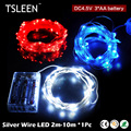 TOP!37 +Sale!+ 2/3/5/10m Silver Wire LED Mini Fairy String Light Outdoor 4.5V Battery Power # TSLEEN