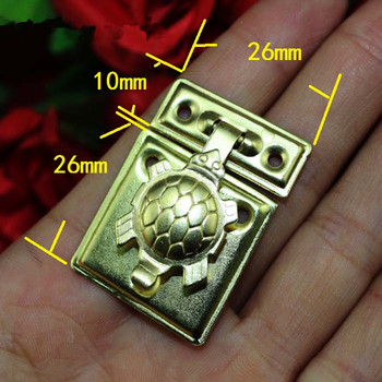 Wholesale Turtle Lock Wooden Jewellery Box Vase Buckle Metal Box Hasp Latch Lock Decorative Hasp,Gold Color,50Sets