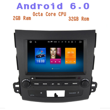 4g ram Android 6.0 Octa Core Car DVD gps Player for Mitsubishi Outlander 2007-2012 with 4G wifi usb Stereo Auto Radio