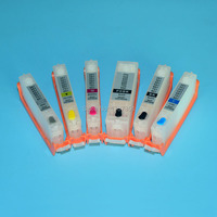 6 Colors Refill Ink Cartridge For Canon PGI 550 CLI 551 For Canon MG6350 MG7150 IP8750