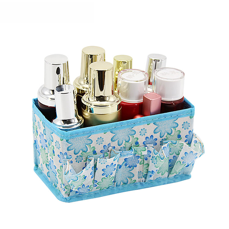 5 Colors Home Office Desktop Multifunction Folding Makeup Cosmetics Zakka Storage Box Container Case Stuff Organizer