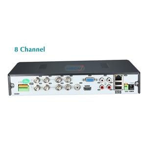 Image 3 - Super 8ch 4mp ahd dvr nvr gravador de vídeo digital onvif rede ip câmera áudio alarme rs485 vigilância vídeo