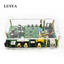 Lusya ES9038Q2M DSD I2S SPIDF decoder board amanero USB DAC audio versterker met Acryl plaat T0249