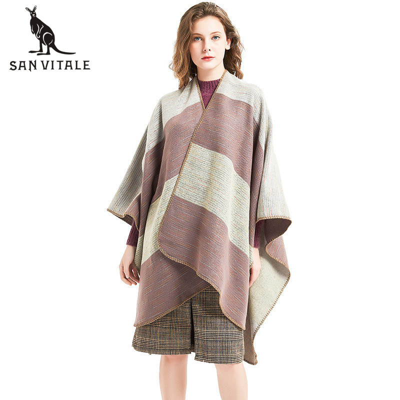 Scarves Women Winter Warm Scarf Top Quality Cape Cashmere Casual Classic Style Clothing Accessories Apparel Luxury Brand Long