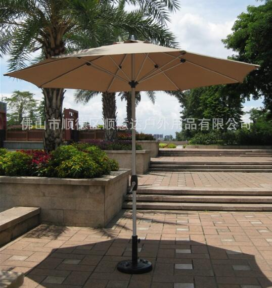 2.7m diameter Outdoor Milan umbrella Folding Advertising Umbrellas Portable Beach Umbrella with base outdoor patio umbrellas umbrella security guard property garden cafe advertising celi furniture