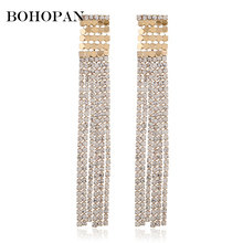 Long Tassel Drop Earrings For Women Fashion Crystal Brinco Luxury Dangle Charm Jewelry Accessories pendientes mujer moda 2018 umode brand new design fashion charm long earrings female zircon big dangle drop earrings for women pendientes mujer moda ue0222