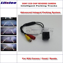 цена на Liislee 860 * 576 Pixels Back Up Camera For KIA Carens / Ceed / Rondo Rearview Parking /  Dynamic Guidance Tragectory