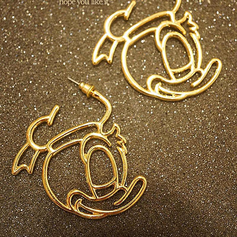 Simple Mickeyต่างหูผู้หญิงเครื่องประดับสแตนเลสหวานรูปสัตว์น่ารักต่างหูเด็กสตั๊ดต่างหูของขวัญ